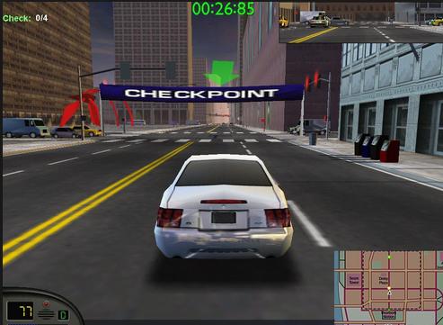 احد السباقات فى لعبة سيارات المدينة