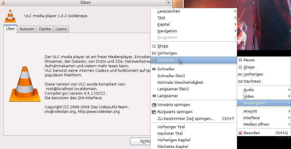 صورة من اعدادات برنامج VLC