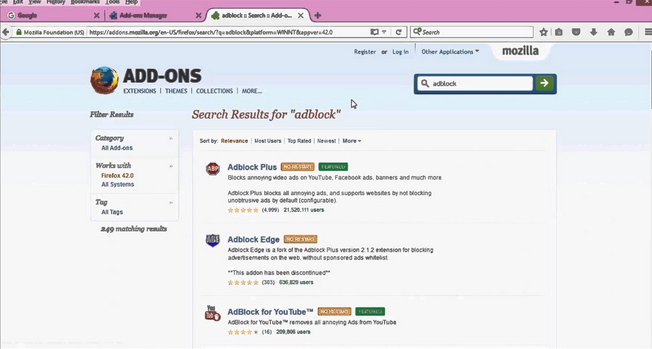 تحميل برنامج adblock plus للفايرفوكس