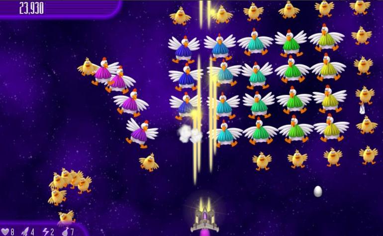صورة من لعبة حرب الفراخ في الفضاء 4