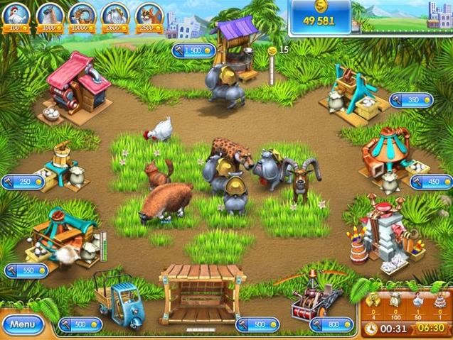 صورة لمزرعة من لعبة فارم فرنزي 3 على الكمبيوتر